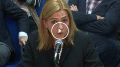 La acusada Cristina de Borbón, durante su declaración.