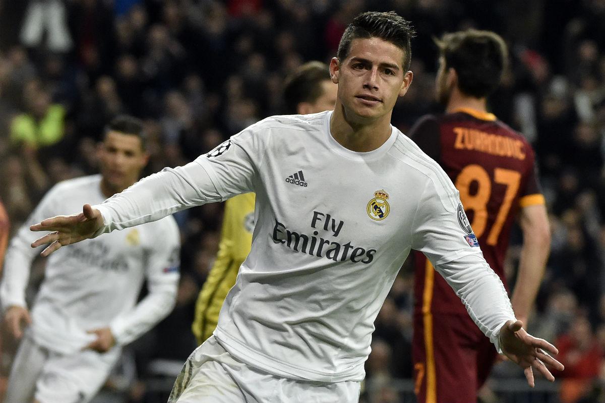 James Rodríguez marcó el segundo gol contra la Roma