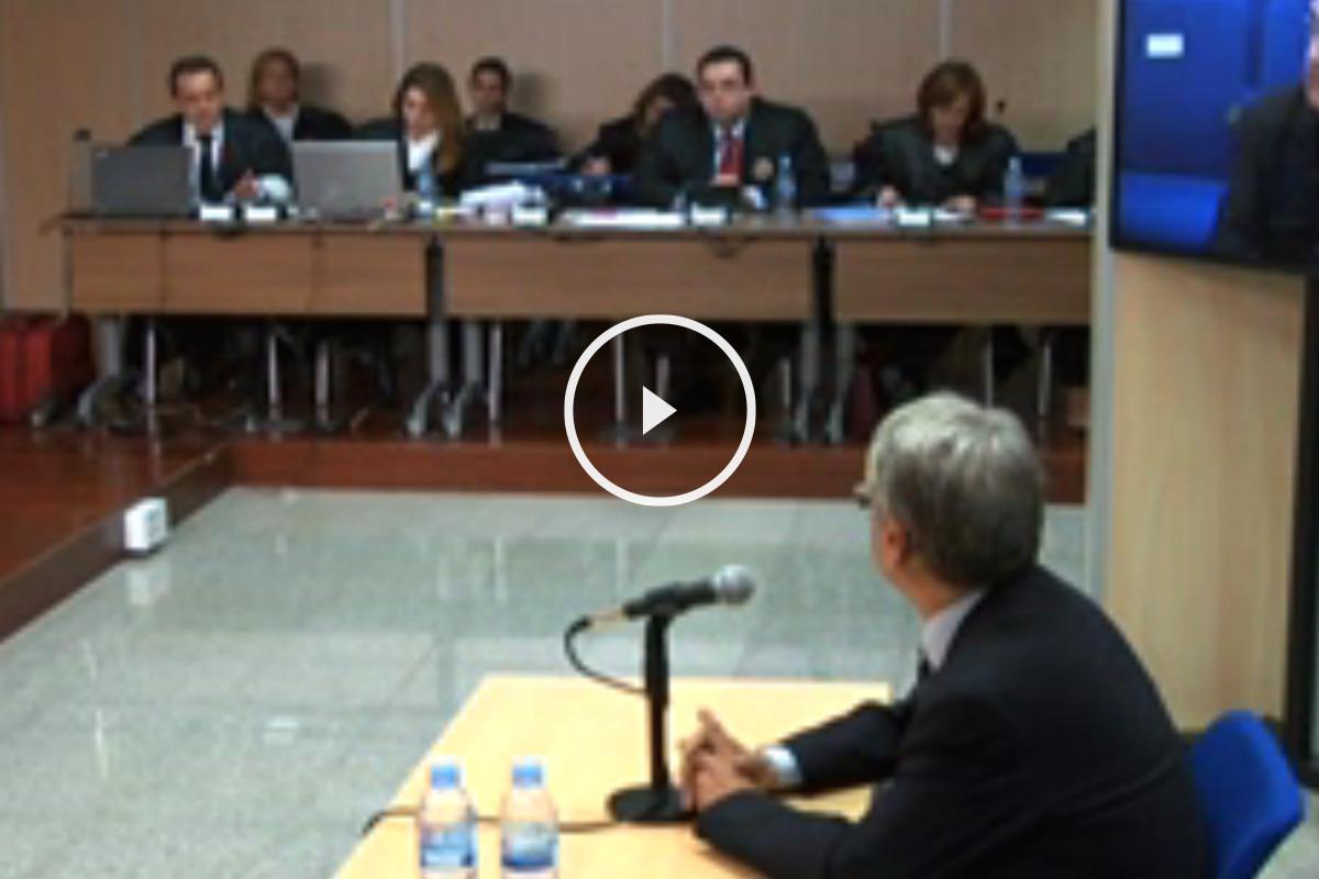 Miguel Tejeiro, atendiendo a las preguntas del fiscal Horrach.
