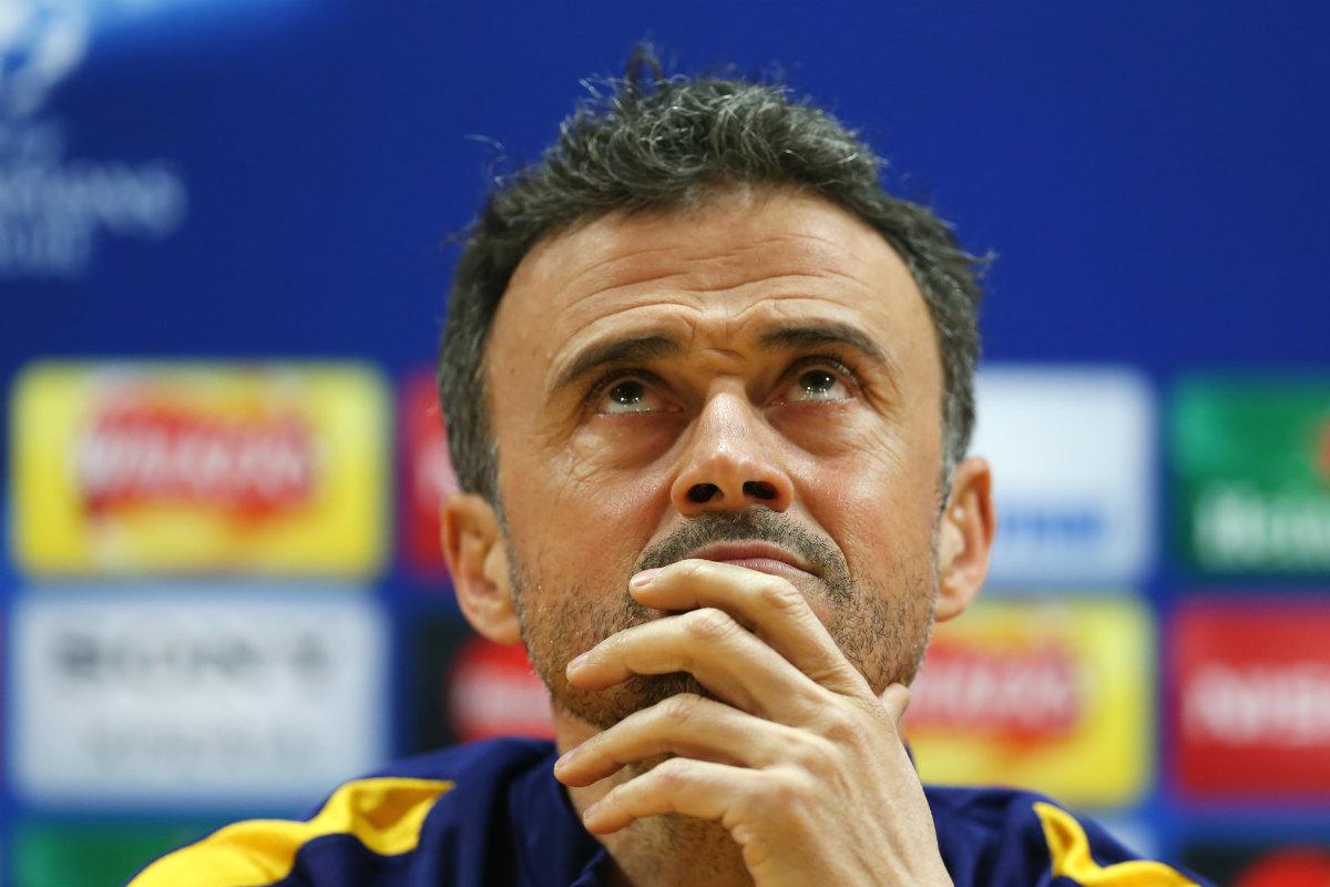 Luis Enrique, entrenador del Barcelona, en rueda de prensa. (Reuters)