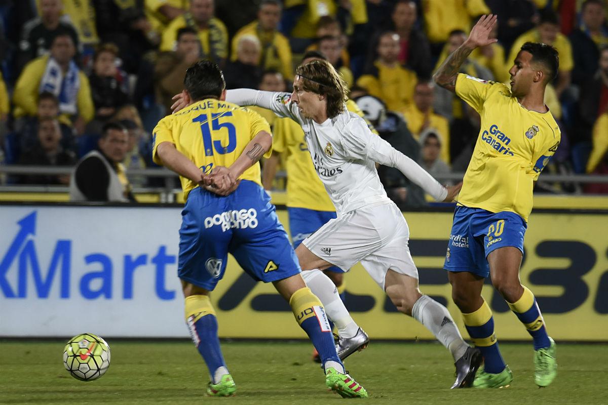 Luka Modric, en el partido contra Las Palmas. (AFP)