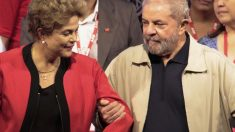 Lula junto a Rousseff, presidenta de Brasil. (Foto: AFP)