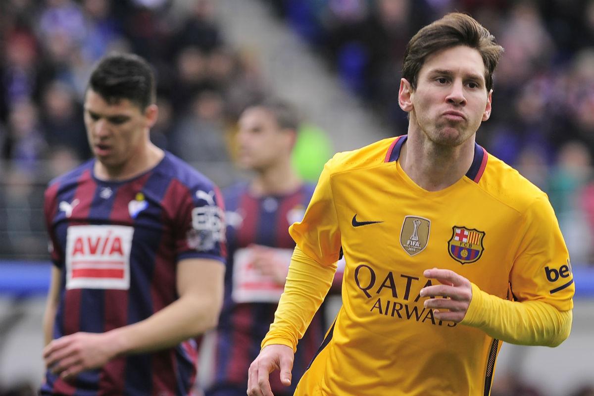 Messi firmó un gran partido en Eibar. (AFP)