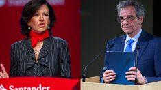 Ana Patricia Botín, presidenta de Banco Santander, y César Alierta, ex presidente de Telefónica (Foto:  GETTY)
