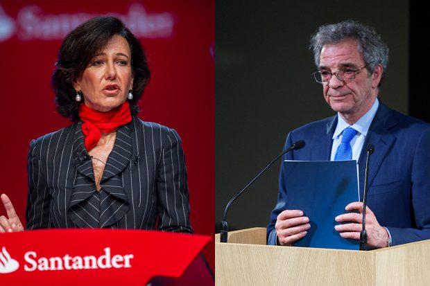 Ana Patricia Botín, presidenta de Banco Santander, y César Alierta, su homólogo en Telefónica (Foto: GETTY)