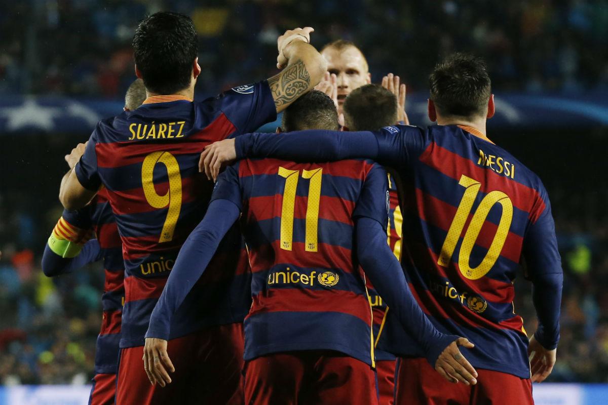 Suárez, Neymar y Messi marcaron contra el Arsenal.  (Reuters)