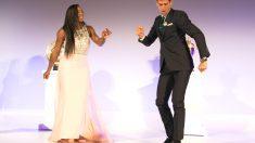 Djokovic baila con Serena Williams. (Getty)