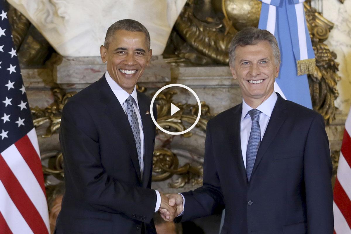 Barack Obama y Mauricio Macri. (Foto: AFP)