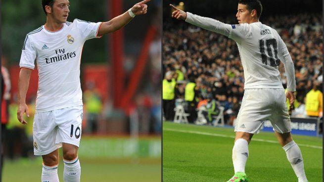 Mesut-Özil-James-Rodríguez