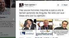 Cuenta de Twitter de Pablo Iglesias.