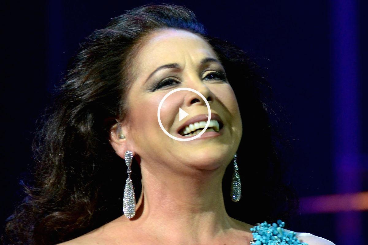Imagen de la cantante Isabel Pantoja en una de sus últimas actuaciones.