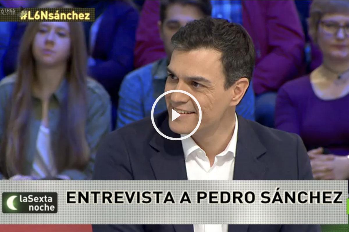 Pedro Sánchez este sábado en laSexta.