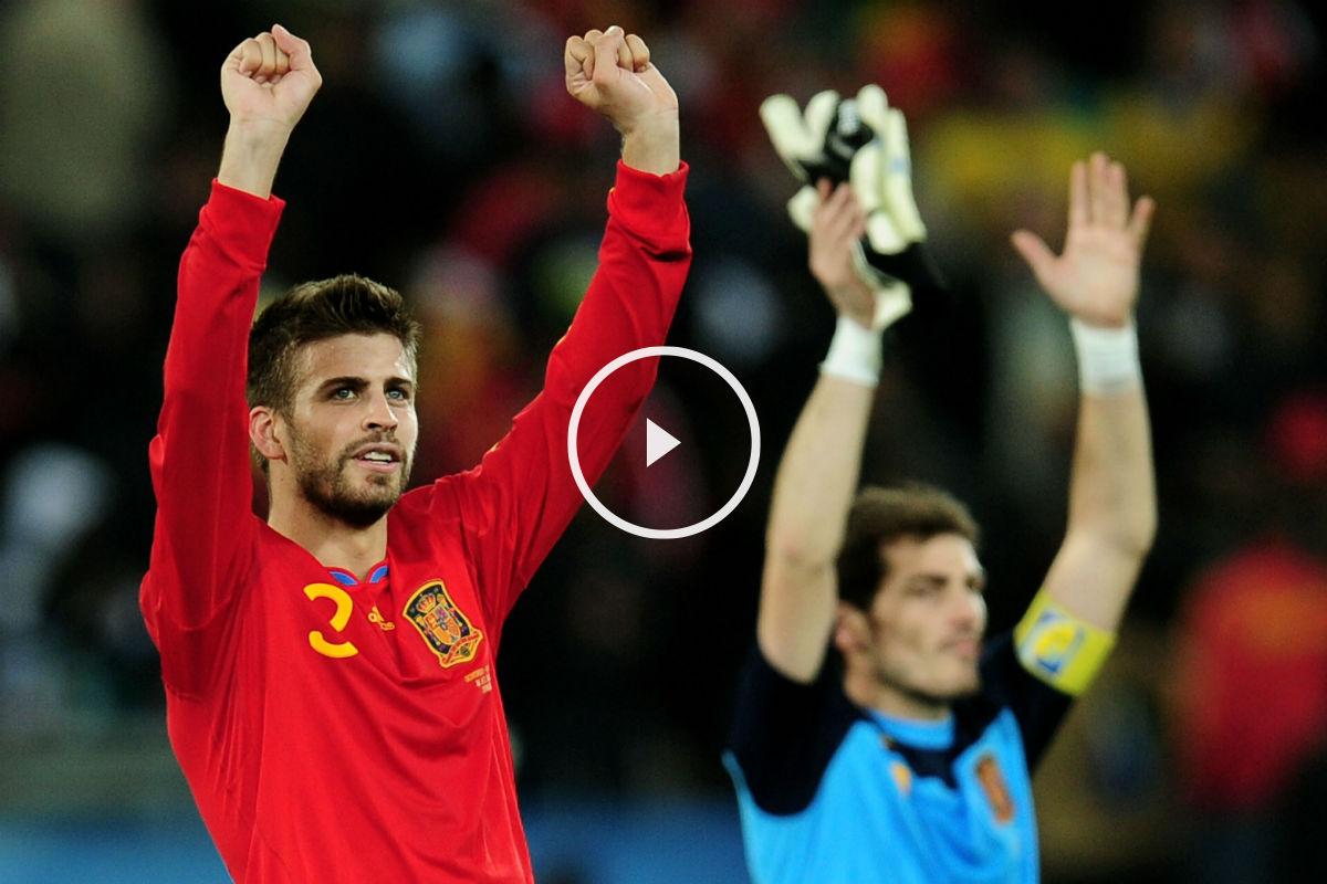 Piqué, en una imagen junto a Casillas. (Getty)
