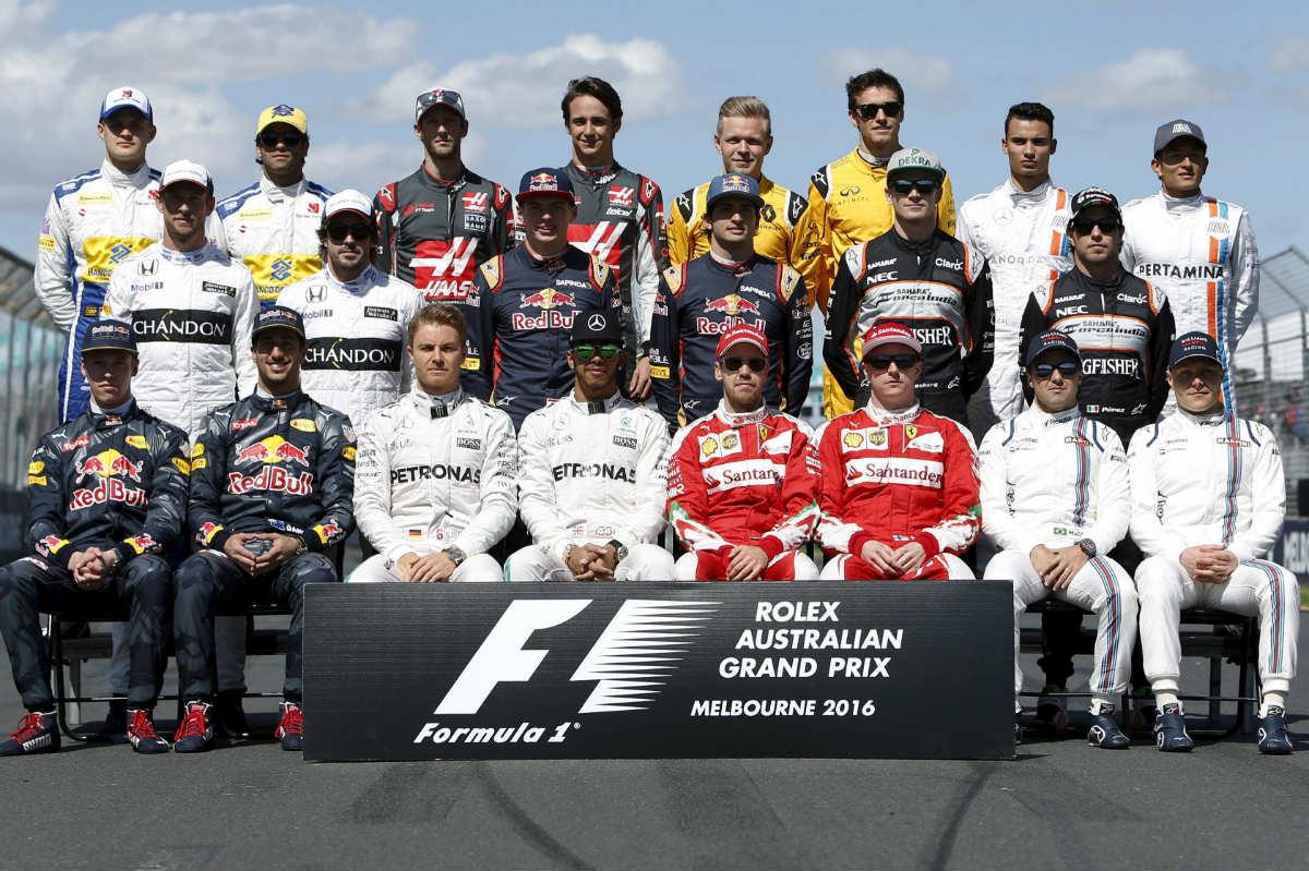 Los pilotos de la parrilla de Fórmula 1. (Reuters)