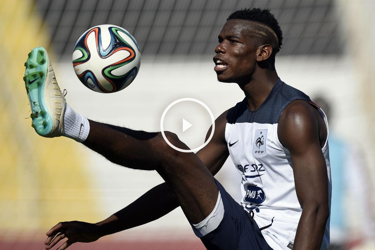 Pogba, en un entrenamiento con Francia. (AFP)