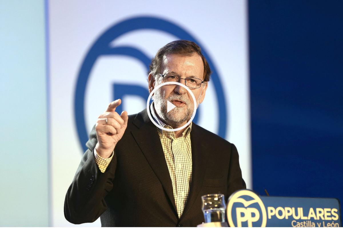 Mariano Rajoy durante la conferencia de prensa que ofreció este sábado en Salamanca (Foto: Efe).