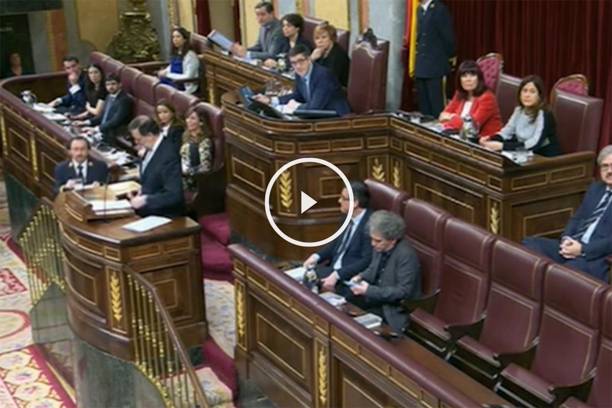 Rajoy tilda de cortos de entendimiento a la bancada socialista