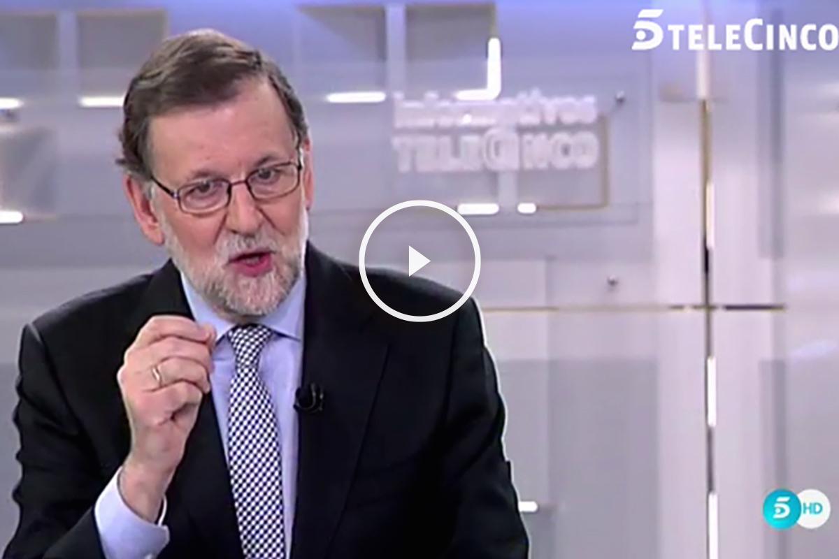 Mariano Rajoy, durante la entrevista en Telecinco