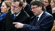 Mariano Rajoy y el ex presidente de la Generalitat, Carles Puigdemont.