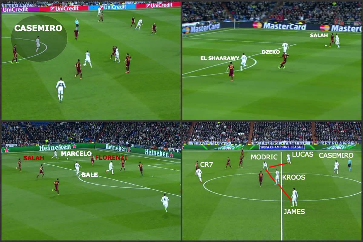 El Real Madrid venció a la Roma en el Bernabéu.