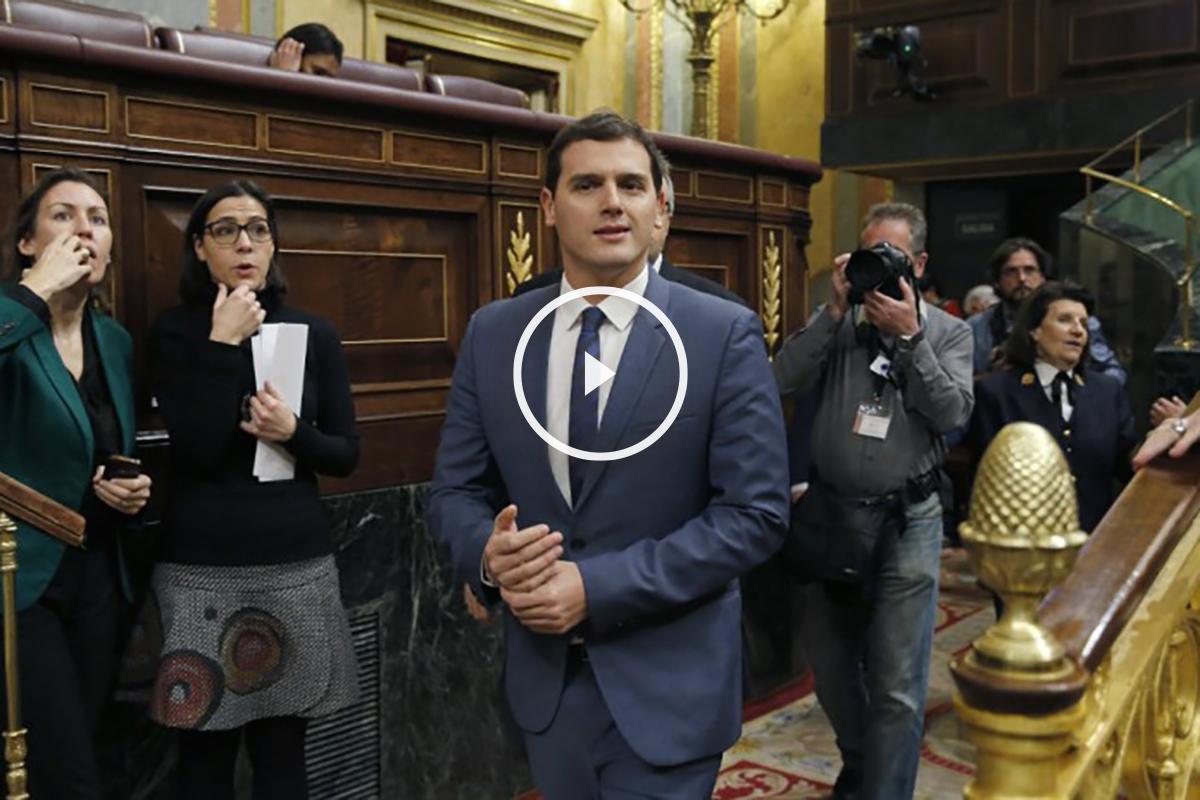 Albert Rivera en el la segunda sesión de investidura de Pedro Sánchez. (Foto:EFE)