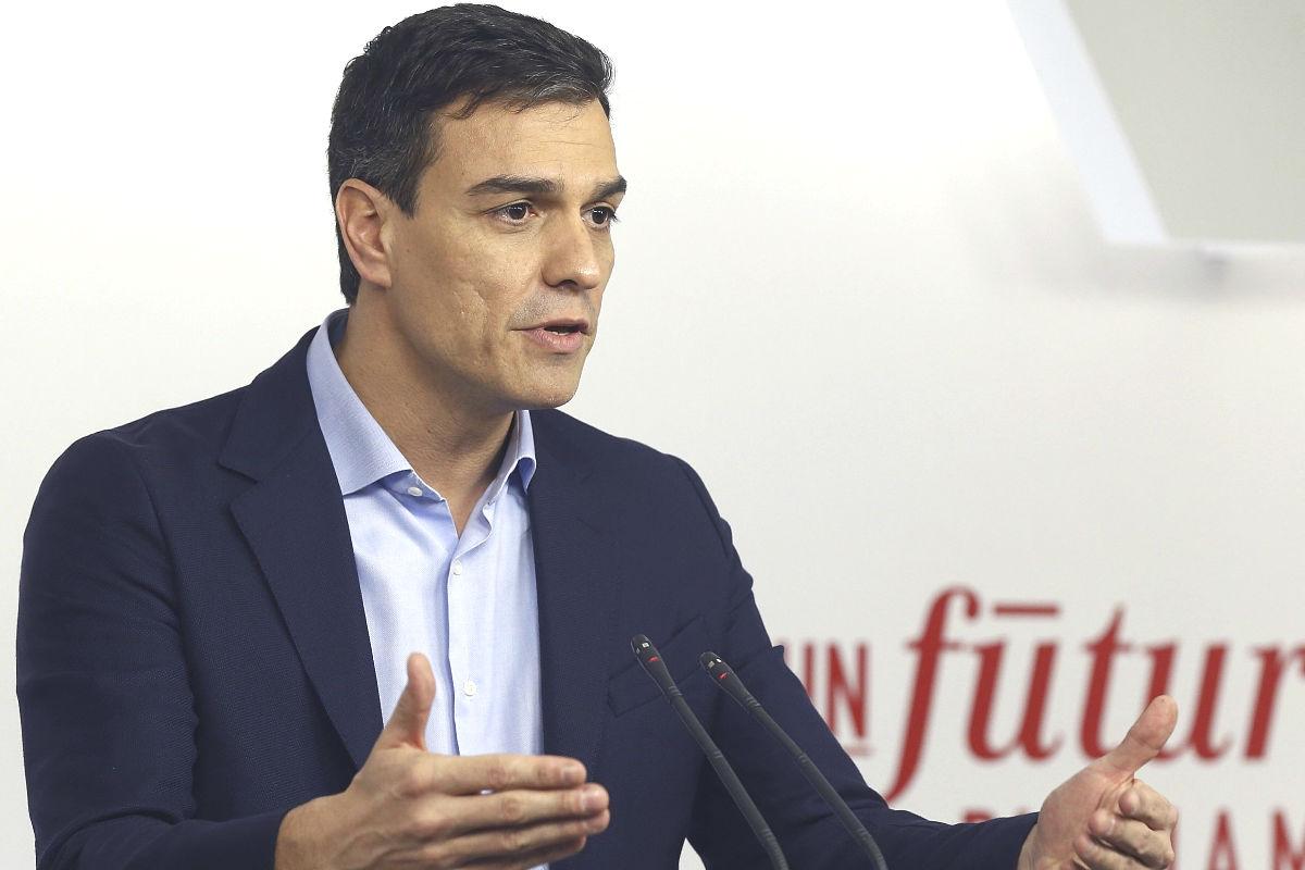 El secretario general del PSOE, Pedro Sánchez (Foto. Efe)