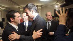 Tsipras y Sánchez en Bruselas. (Foto: PSOE)