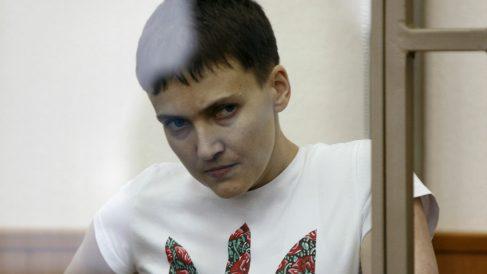 Nadia Savchenko, en su juicio en Dontesk (Rusia), este miércoles. (Reuters)