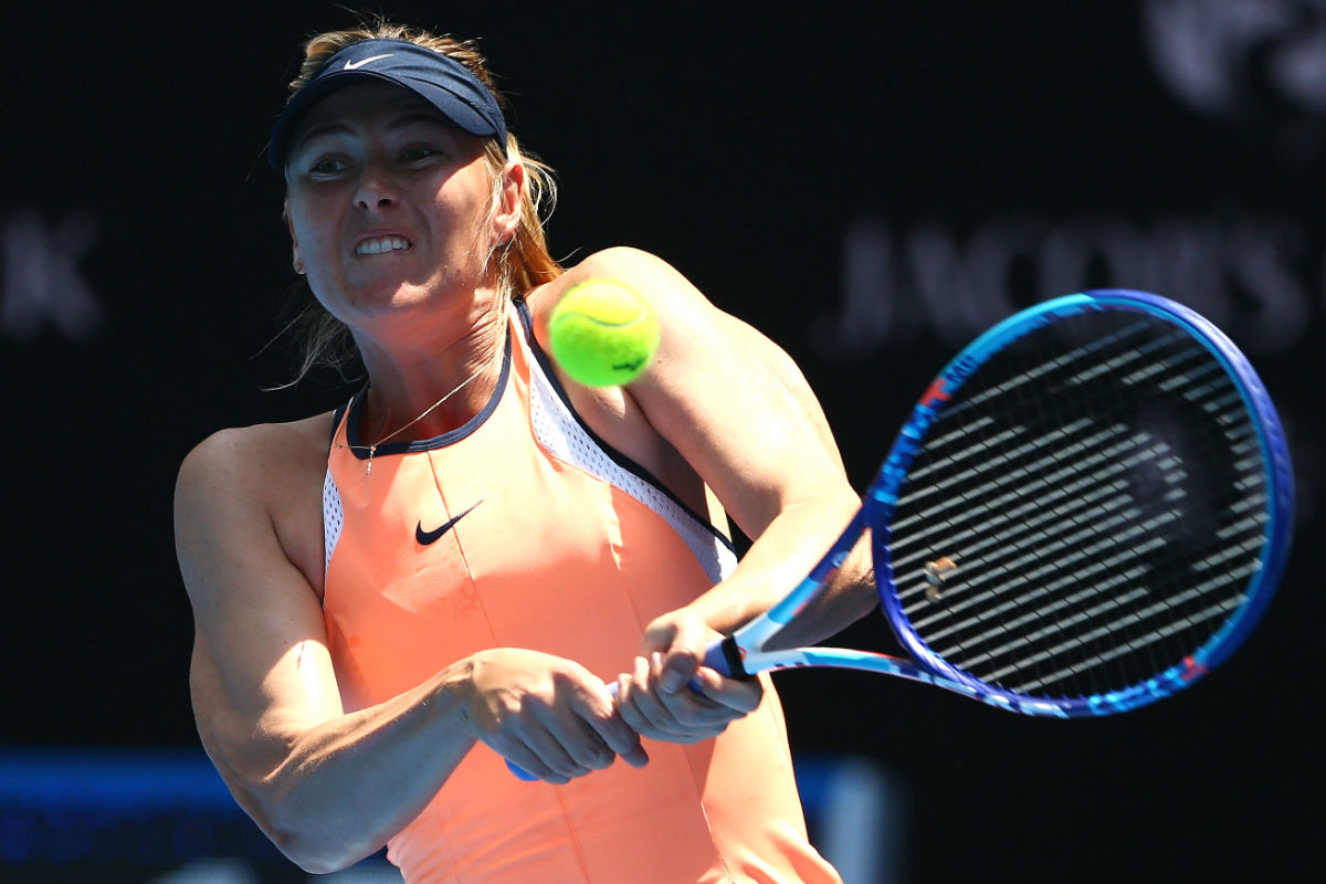 Sharapova, en un partido del Open de Australia. (Getty)