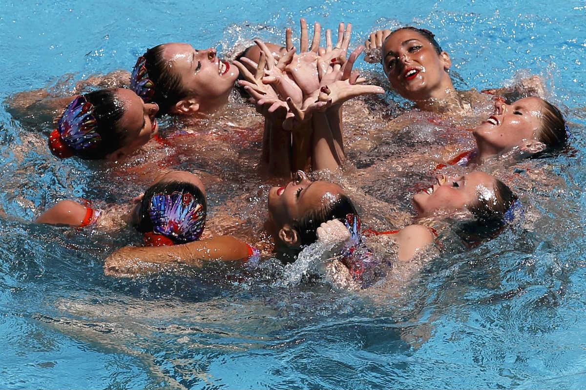 La selección española de natación sincronizada no estará en los Juegos de Río. (Reuters)