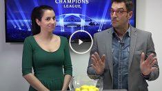 Pilar Blanco y Látigo Serrano recrean en OKDIARIO el sorteo de la Champions.