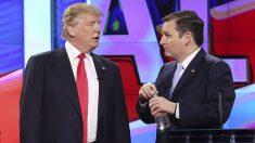 Donald Trump y Ted Cruz.