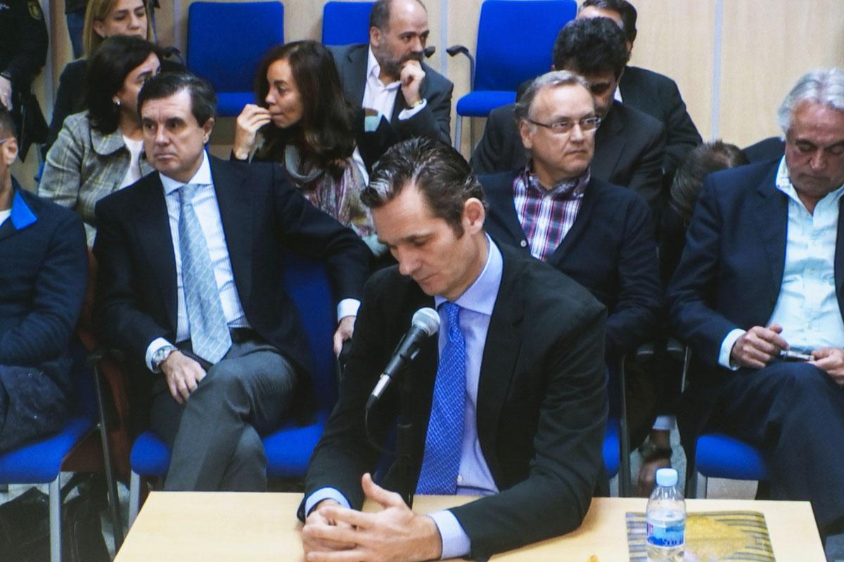 Iñaki Urdangarin durante su tercera jornada de declaración. (Foto: EFE)