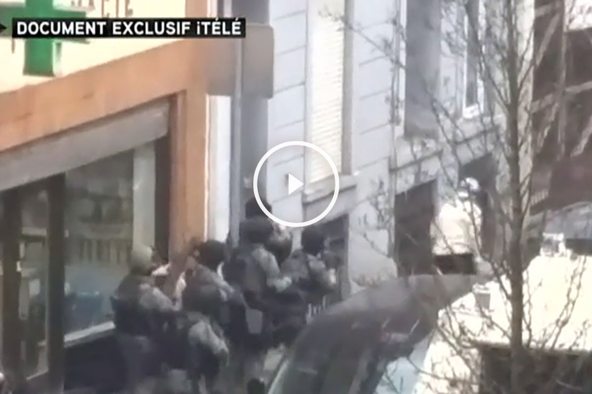 Abdeslam intenta huir de la Policía francesa.