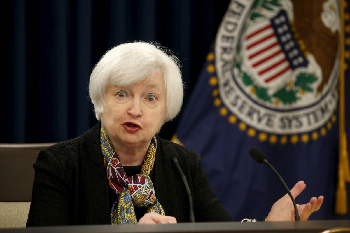 La presidenta de la Reserva Federal de EEUU, Janet Yellen. (Reuters)