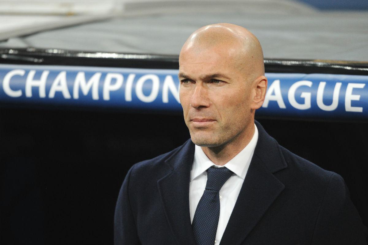 Zidane, en el partido ante la Roma en el Bernabéu. (Getty)