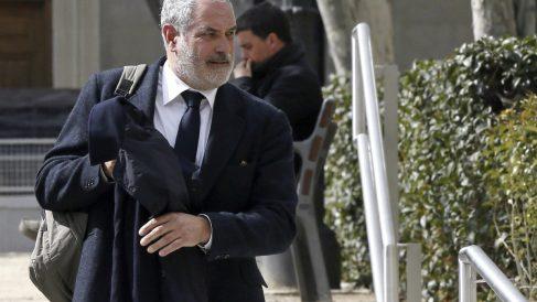 Zubizarreta, a su salida de la Audiencia Nacional tras declarar ante el juez. (EFE)