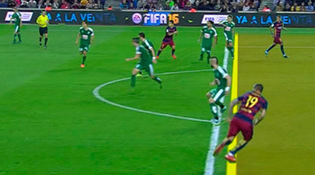 Los árbitros han concedido al Barcelona ocho goles ilegales por fuera de juego