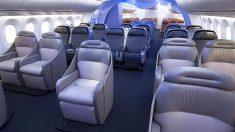 Interior del Boeing 787 Dreamliner.