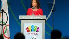 Ana Botella, durante la presentación de la candidatura de Madrid a los Juegos Olímpicos
