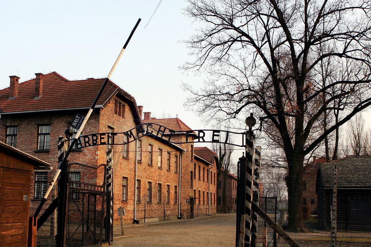 Imagen del campo de concentración de Auschwitz. (Getty)