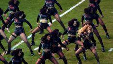Imagen de la cantante Beyoncé durante la Super Bowl el pasado mes de febrero.(Getty)
