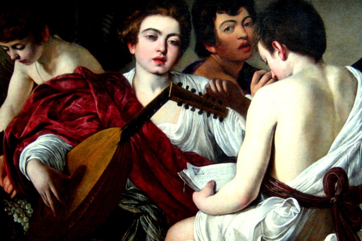 Imagen del cuadro Los músicos de Caravaggio.