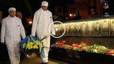 Imagen del acto en recuerdo de las víctimas muertas en Chernóbil. (Getty)