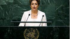 La presidenta de Brasil, Dilma Rousseff en la sede de la ONU en Nueva York. (Getty)