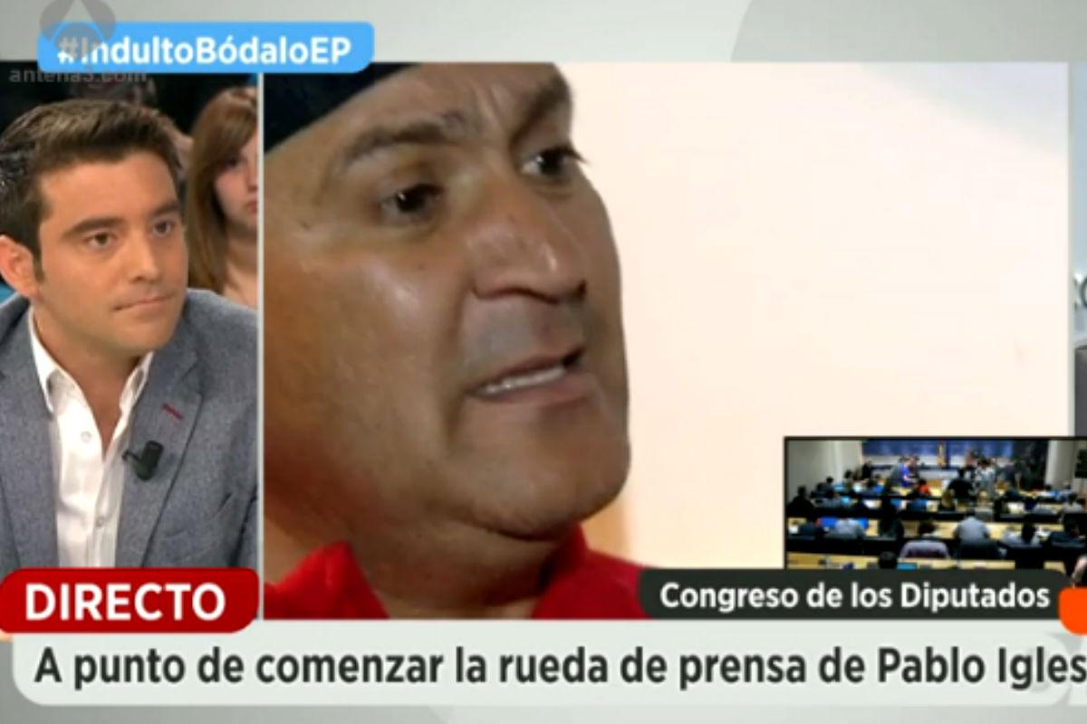 Imagen del periodista de política e investigación, Javier Negre, en Espejo Público.