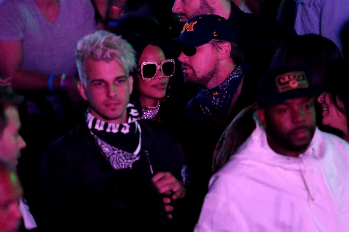 Imagen de Leonardo DiCaprio y Rihanna en Coachella. (Getty)