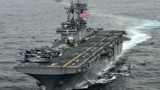 Imagen de uno de los portaaviones de la US Navy. (Getty)