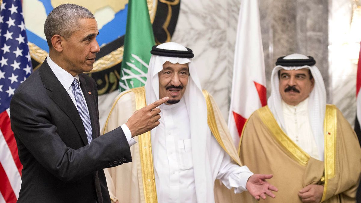 Imagen Obama durante su visita a Arabia Saudí, con el rey Salmán bin Abdulaziz. (Getty)
