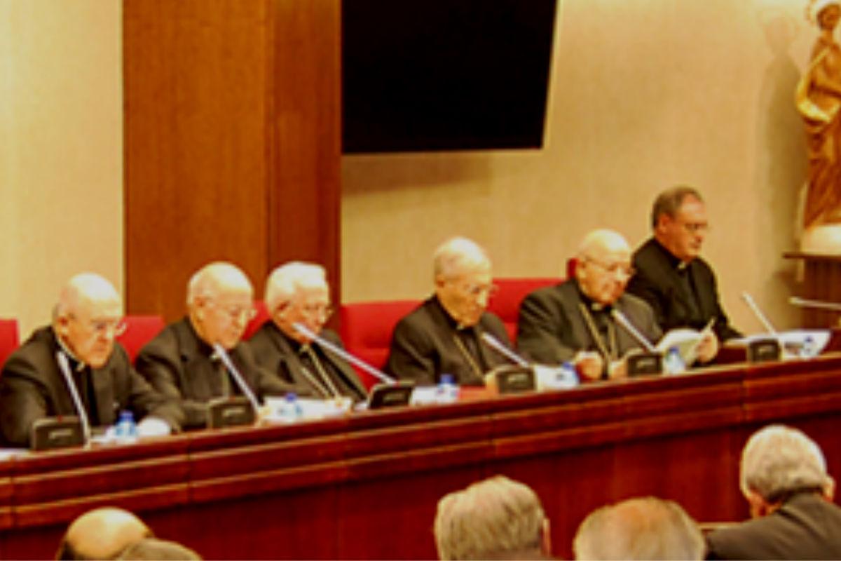 Imagen de los obispos españoles en la Conferencia Episcopal.